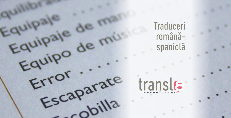 Traduceri română-spaniolă